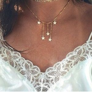 gold star drop brandy melville choker necklace!